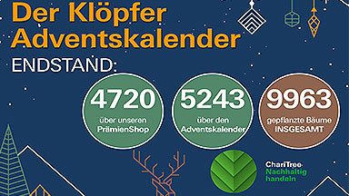 Klöpfer Adventsaktion 2019: Neuer Baumspenden-Rekord!